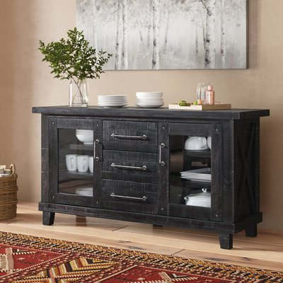 """Emmie 84"""" Wide Sideboards Inside Widely Used Rustic & Farmhouse Sideboards, Buffets & Buffet Tables You (View 7 of 30)"""