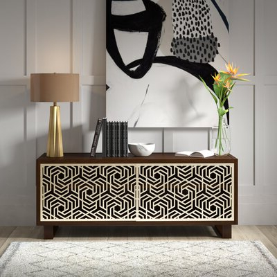 """Emmie 84"""" Wide Sideboards Throughout Best And Newest 60 In Sideboard (View 24 of 30)"""