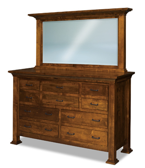 """Empire 10 Drawer Dresser In Most Recently Released Francisca 40"""" Wide Maple Wood Sideboards (View 9 of 30)"""