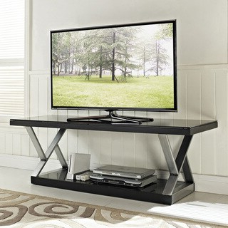 """Evanston Tv Stands For Tvs Up To 60"""" Regarding Latest Industrial Black Glass 60 Inch Tv Stand – Overstock (View 20 of 30)"""