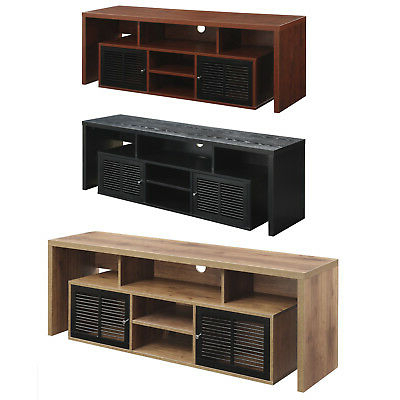 """Evanston Tv Stands For Tvs Up To 60"""" Within Preferred Flat Screen Tv Stand 60 Inch Entertainment Center Wood Av (View 16 of 30)"""