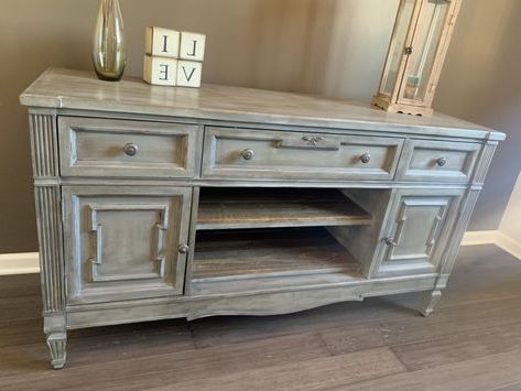 """Excited To Share This Item From My #etsy Shop: Grey Rustic For Fashionable Emmie 84"""" Wide Sideboards (View 26 of 30)"""