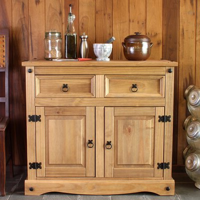 """Fahey 58"""" Wide 3 Drawer Acacia Wood Sideboards With Regard To Latest Solid Wood Sideboards & Buffets You'll Love In (View 13 of 30)"""