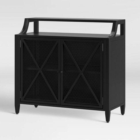 Fairmont Metal 2 Door Cabinet Black – Threshold In 2020 In 2020 3 Drawer And 2 Door Cabinet With Metal Legs (View 30 of 30)