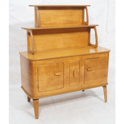"""Famous 180619 120 Thaden Jordan Modern Bentwood Sideboard Buffet With Bruin 56"""" Wide 2 Drawer Sideboards (View 24 of 30)"""