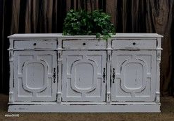 """Famous 42"""" Wide Sideboards Within Extra Wide Distressed White Sideboard Buffet With (View 26 of 30)"""