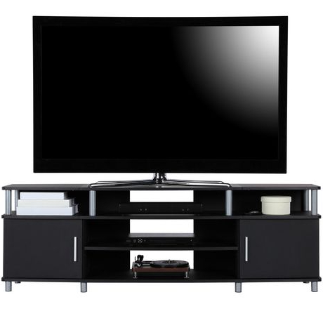 """Famous Carson Tv Stand For Tvs Up To 70"""", Black (View 9 of 30)"""