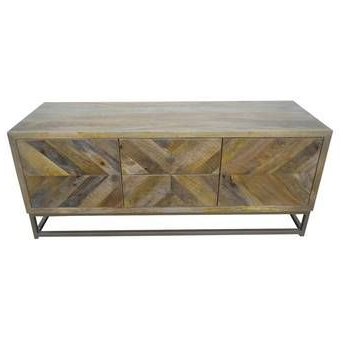 """Famous Cora Rose 62.9"""" Wide 3 Drawer Acacia Wood Sideboard (with In Cora Rose  (View 2 of 26)"""