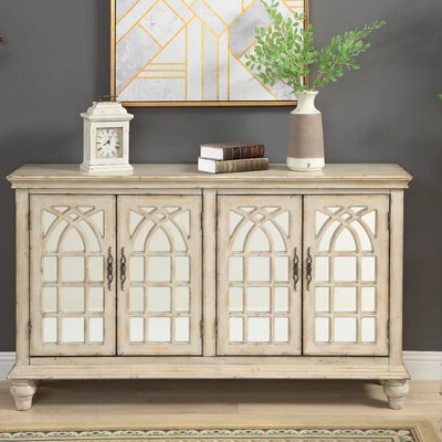 """Famous Fugate 48"""" Wide 4 Drawer Credenzas Pertaining To Mirrored Sideboard & Buffet Tables You'll Love In (View 7 of 30)"""