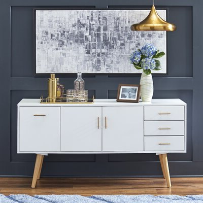 """Famous Milena 52"""" Wide 2 Drawer Sideboards For Modern Sideboards + Buffets (View 12 of 30)"""