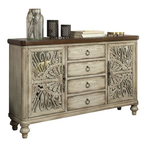 """Famous Perfect For Staging A Dining Room Display While Tucking With Regard To Hargrove 72"""" Wide 3 Drawer Mango Wood Sideboards (View 2 of 30)"""