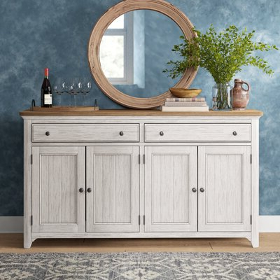 """Famous Reece 79"""" Wide Sideboards Within Farmhouse & Rustic Sideboards & Buffets (View 5 of 30)"""