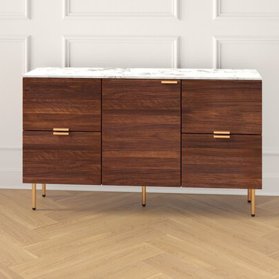 """Famous Ronce 48"""" Wide Sideboards In Kitchen Sideboard Cabinets (View 20 of 30)"""