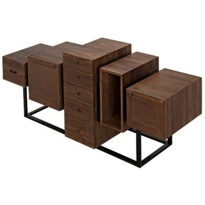 """Famous Tabernash 55"""" Wood Buffet Tables For Ajax Sideboard, Metal And Walnut (View 26 of 30)"""