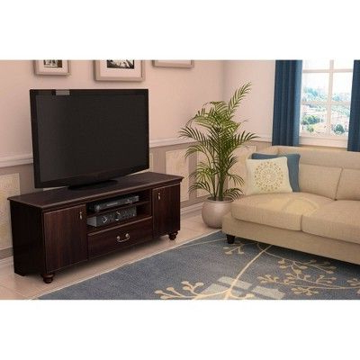 """Fashionable Adalberto Tv Stands For Tvs Up To 65"""" Regarding Noble Tv Stand For Tvs Up To 65'' – Dark Mahogany – South (View 3 of 30)"""