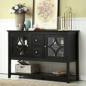 """Fashionable Amazon – Mixcept 52"""" Stylish Practical Sideboard Pertaining To Slattery 52"""" Wide 2 Drawer Buffet Tables (View 20 of 30)"""