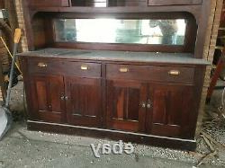 Fashionable Antique Cherry Built In Cabinet Cupboard Mirror Pantry Old With Wood Accent Sideboards Buffet Serving Storage Cabinet With 4 Framed Glass Doors (View 21 of 30)