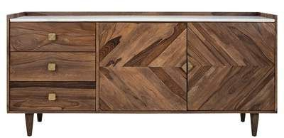 """Fashionable Elllise 62"""" Wide Sideboards Pertaining To Union Rustic Zareen Herringbone Sideboard Union Rustic (View 30 of 30)"""