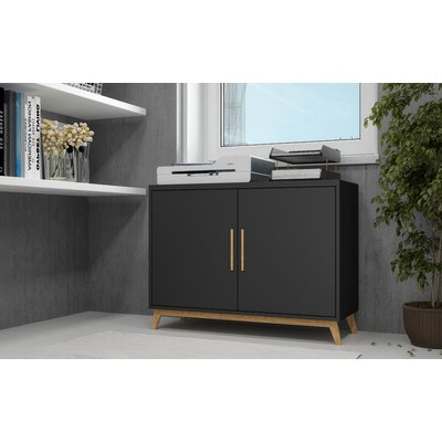 """Fashionable Fahey 58"""" Wide 3 Drawer Acacia Wood Sideboards For Black Sideboards & Buffets You'll Love In (View 10 of 30)"""