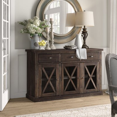 """Fashionable Farmhouse & Rustic Sideboards & Buffets – Made To Last With Westhoff 70"""" Wide 6 Drawer Pine Wood Sideboards (View 19 of 30)"""