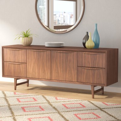 """Fashionable Frida 71"""" Wide 2 Drawer Sideboards Regarding Mid Century Modern Sideboards & Buffets You'll Love In (View 8 of 30)"""