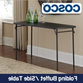 """Fashionable Herringbone 48"""" Wide Buffet Tables With Regard To Amazon: Cosco Abs Top Folding Table, 2048 Inch (View 20 of 30)"""