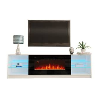 """Fashionable Ira Tv Stands For Tvs Up To 78"""" Intended For Frederick Tv Stand For Tvs Up To 78"""" With Fireplace (View 12 of 30)"""