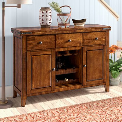 """Fashionable Slattery 52"""" Wide 2 Drawer Buffet Tables In Rustic & Farmhouse Sideboards, Buffets & Buffet Tables You (View 3 of 30)"""