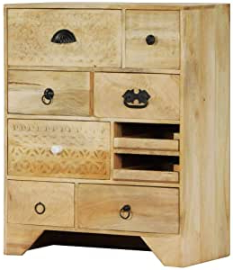 """Fashionable Strock 70"""" Wide Mango Wood Sideboards For Amazon – Vidaxl Solid Mango Wood Chest Of Drawers Side (View 20 of 30)"""