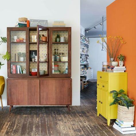Fashionable Vintage Solid Mango Wood 5 Door Sideboard (View 20 of 30)