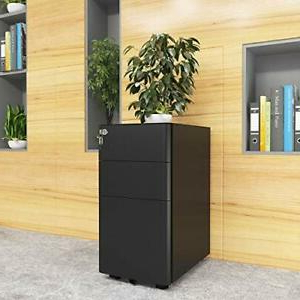 Fashionable Yitahome 3 Drawer Metal Filing Cabinet Office Drawers With With 3 Drawer And 2 Door Cabinet With Metal Legs (View 10 of 30)
