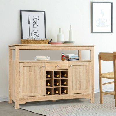 """Fashionable Yukon 58"""" Wide 2 Drawer Pine Wood Sideboards Regarding Sideboards & Buffet Tables (View 17 of 30)"""
