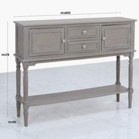 Favorite Arabella Taupe Wood 2 Door 2 Drawer Sideboard Cabinet Inside  (View 21 of 30)