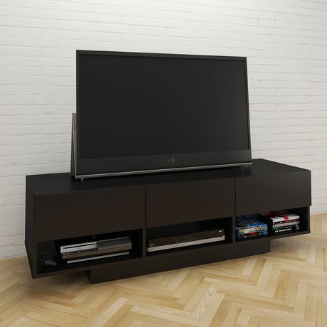 """Favorite Avenir Tv Stands For Tvs Up To 60"""" In Nexera 60 Inch Stereo Tv Stand, Black (View 7 of 30)"""