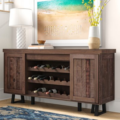 """Favorite Barkell 42"""" Wide 2 Drawer Acacia Wood Drawer Servers Regarding Rustic & Farmhouse Sideboards, Buffets & Buffet Tables You (View 23 of 30)"""