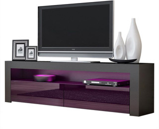 """Favorite Bloomfield Tv Stands For Tvs Up To 65"""" Pertaining To Tv Stand Milano Classic Black Body Modern 65"""" Tv Stand Led (View 29 of 30)"""
