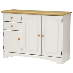 """Favorite Francisca 40"""" Wide Maple Wood Sideboards In Shop New Visionslane Kitchen Essentials White/maple (View 4 of 30)"""