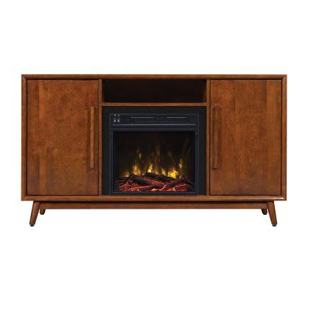 """Favorite Leafwood Tv Stands For Tvs Up To 60"""" Inside Luxetsi Woodlawn Mahogany Cherry Tv Stand For Tvs Up (View 26 of 30)"""