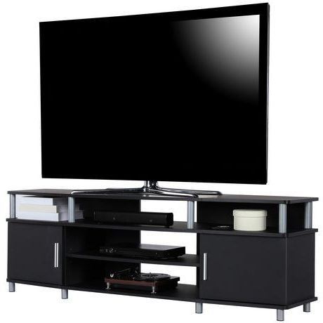 """Favorite Lederman Tv Stands For Tvs Up To 70"""" Pertaining To Carson Tv Stand For Tvs Up To 70"""", Black (View 5 of 30)"""