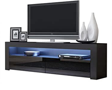 """Favorite Mainor Tv Stands For Tvs Up To 70"""" Inside Amazon: Tv Console Milano Classic Black – Tv Stand Up (View 18 of 30)"""