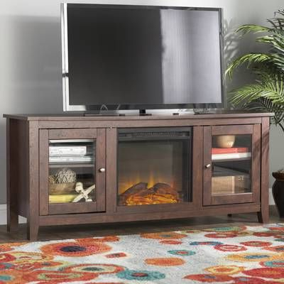 """Favorite Sunbury Tv Stand For Tvs Up To 60"""" With Electric Fireplace Within Leafwood Tv Stands For Tvs Up To 60"""" (View 17 of 30)"""