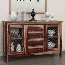 Florida Traditional Rustic Solid Wood 4 Drawer Sideboard Throughout Famous Orner Traditional Wood Sideboards (View 21 of 30)