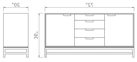 """Forde Sideboard With Drawers 36"""" High X 72"""" Wide X 20 With Well Known Blade 55"""" Wide Sideboards (View 24 of 24)"""