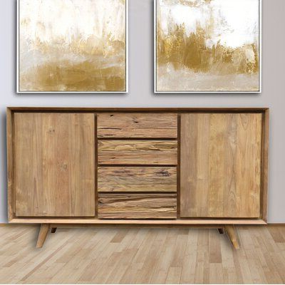 """Foundry Select Amily Solid Wood Tv Stand For Tvs Up To 65 Inside Recent Adrien Tv Stands For Tvs Up To 65"""" (View 29 of 30)"""