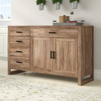 """Foundry Select Springdale 54"""" Wide 3 Drawer Mango Wood Throughout Well Known Fitzhugh Credenzas (View 10 of 21)"""