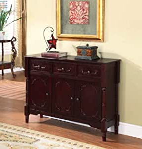 """Frida 71"""" Wide 2 Drawer Sideboards With Well Known Amazon – King's Brand Wood Console Sideboard Table (View 11 of 30)"""