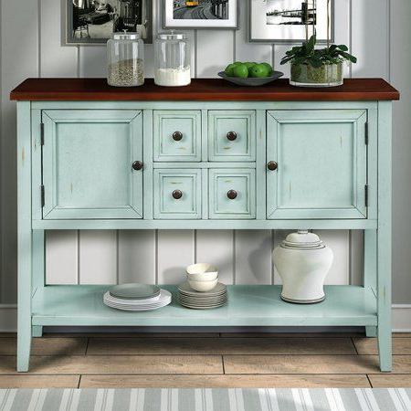"""Fugate 48"""" Wide 4 Drawer Credenzas In Well Liked Home In 2020 (with Images) (View 5 of 30)"""