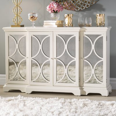 """Fugate 48"""" Wide 4 Drawer Credenzas Pertaining To Well Liked Mirrored Sideboard & Buffet Tables You'll Love In (View 10 of 30)"""