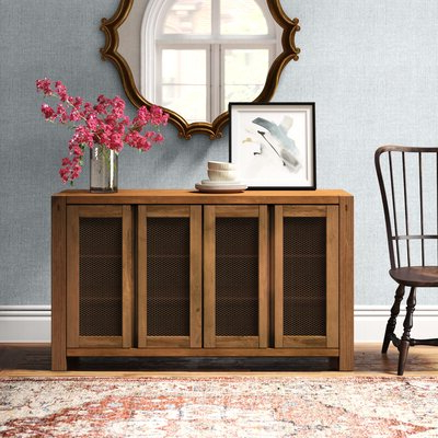 """Fugate 48"""" Wide 4 Drawer Credenzas Regarding Current Sideboards & Buffet Tables (View 27 of 30)"""