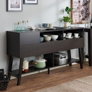 """Furniture Of America Kolbie Modern 60 Inch 3 Drawer Dining With Recent Caila 60"""" Wide 3 Drawer Sideboards (View 21 of 30)"""